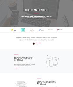 نمونه سایت agency